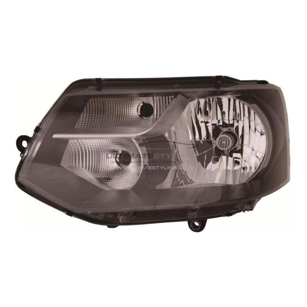 VW Transporter T5 Van 1/2010-2015 Black H4 Bulb Headlight Lamp Passenger  Side