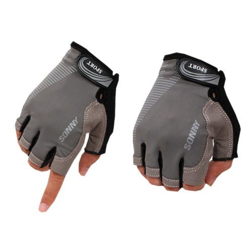 Perfect for Summer Use Half Finger Climbing Gloves Outdoor Sport Gloves Gray