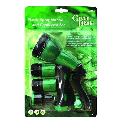 6 Function Spray Gun Plastic Spray Nozzle And Connector Set