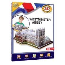 Build Your Own 3d Puzzle Model Kit - Westminster Abbey (145 Pieces)
