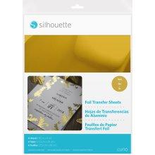 "Silhouette 8.5""X11"" Foil Transfer Sheets 6/Pkg-Gold"