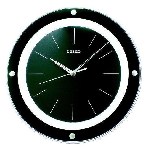 Seiko QXA314J Stylish Quartz Wall Clock - Black