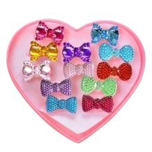 Shiny Plastic Girls Toy Rings, Princess Dress Up [Multicolor]