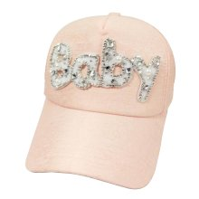 Korean Wave Kids Baseball Cap Hip-Hop Hat Embroidered BABY (Pink)