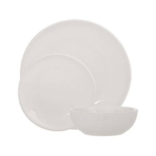 Sienna 12Pc Dinner Set, Ivory Stoneware