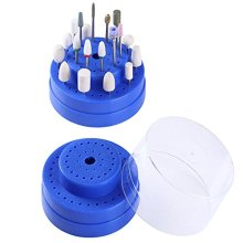 Gimiton 1PC Nail Drill Bits Holder Dustproof Stand Displayer Organizer Container 60 Holes Manicure Tools Acrylic Cover case Manicure Tools
