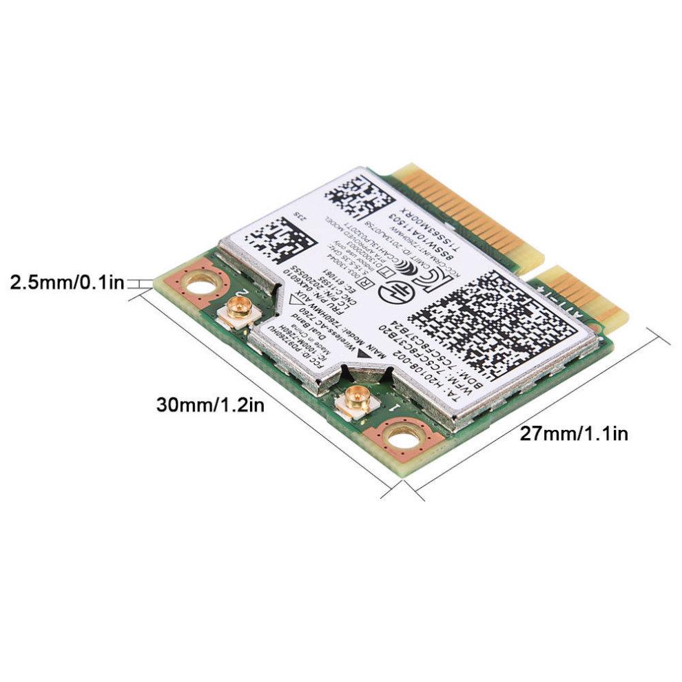 Intel 7260 7260HMW AC Dual Band WiFi 4 0 Wlan Mini PCIE 04X6010 Card