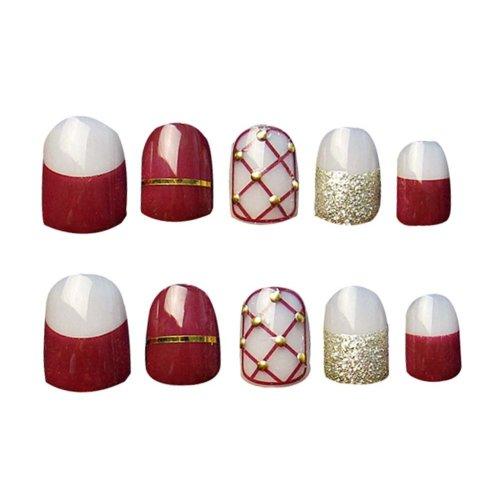 2 Boxes(48 Pieces) 3D Design False Nails/Elegant False Nails Sets, Multi color