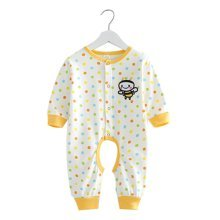 Baby Suit Clothing Long-Sleeved Cotton Baby Crawl Sports Open Fork Cotton F