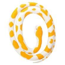 117cm Rubber Albino Python Snake -  117cm rubber albino python snake