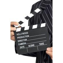 Hollywood Style Clapper Board, Black, 17.5cm x 20cm / 7in x 8in - Board Dress -  clapper board hollywood style dress fancy accessory 175cm x 20cm