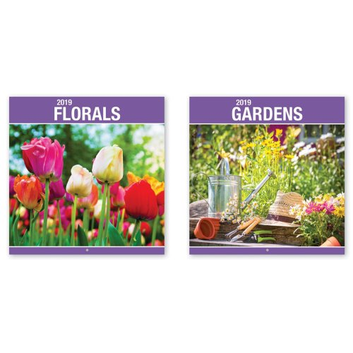 2019 Flowers Gardens Square Wall Calendar Christmas Birthday Gift Floral Plants On OnBuy