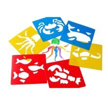 Set of 6 PVC Reusable Baby Painting Facsimile Cards