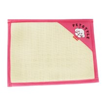 Natual Soft Pet Dog Bed Mat Double Sided Dual-use Straw Mat ROSE, 53*38cm