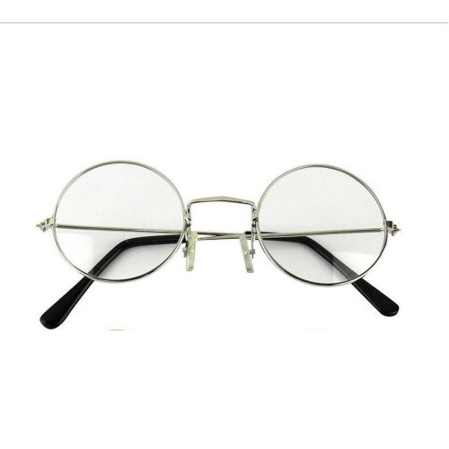 9df55fdb9219 Trixes Unisex Silver Retro Sixties Style Round Metal Glasses