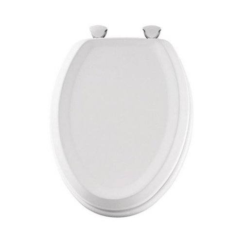 Mayfair 125ec 000 Elongated Wood Toilet Seat In White