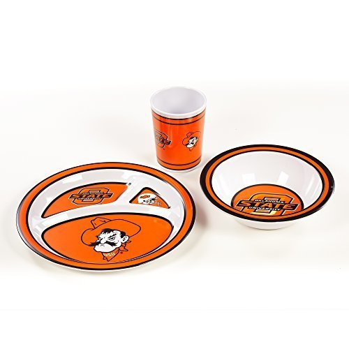 NCAA Oklahoma State Cowboys Kids 3-Piece Dish Set, One Size, Team Color