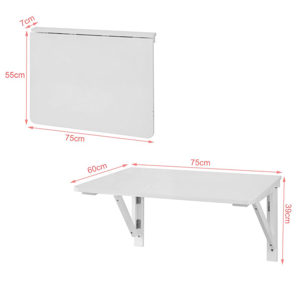 Sobuy 174 Fwt05 W Folding Wall Mounted Drop Leaf Table Desk