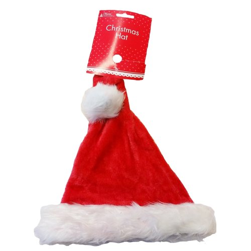 2e64b9b9d1 Red Santa Hat Father Christmas Xmas Fancy Dress Office Party Unisex Red  Novelty on OnBuy