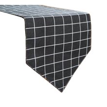 Simple Style Table Runner Bed Runner Tablecloths Table Top Decor, Plaid Black