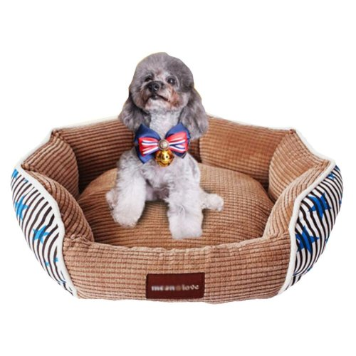 Luxurious Cotton Pet Bed/ Mats Cat/ Dog House Bed S- Blue