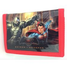 NEW OFFICIAL BATMAN VS SUPERMAN DC COMICS BOYS KIDS TRI-FOLD WALLET