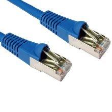 Cat 6a LSZH SFTP lead 10 Metre with RJ45 Plugs - Blue