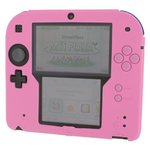 new style bfd15 ca76e Silicone case for 2DS Nintendo protective soft gel bumper case ZedLabz -  Pink