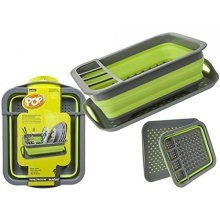 Summit Pop Dish Drainer - Up Non Slip Tray Greengrey Camping Caravan Rack -  pop up dish drainer summit non slip tray greengrey camping caravan rack