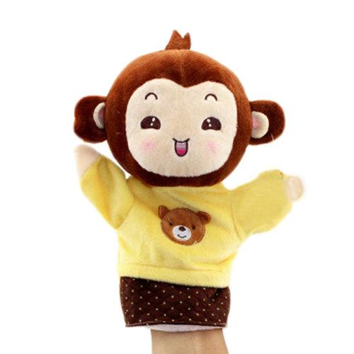 Lovely Kid's Glove Puppet Hand Dolls, Yellow Monkey