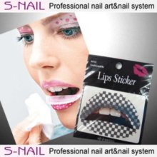 Lip Tattoo 2 In Packet Black Squares