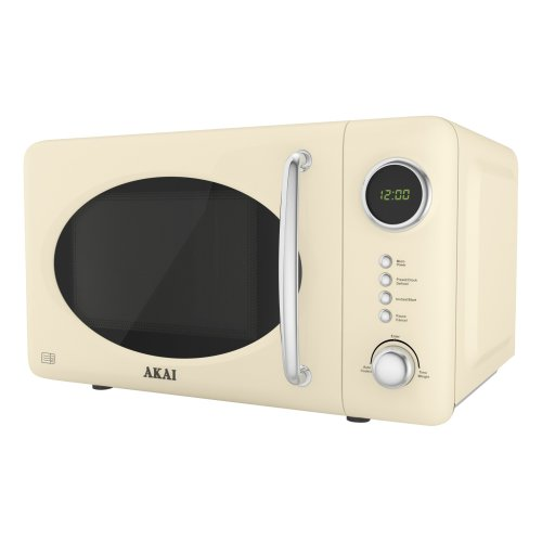 Akai A24006C Digital Solo Microwave with 5 Power Levels, 700 W, 20 Litre, Cream