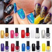 10 Colors Professional Nail Art Stamping Polish Painting Printing Varnish Manicure