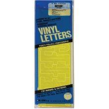 "Permanent Adhesive Vinyl Letters 4"" 95/Pkg-Yellow"