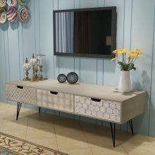 vidaXL TV Cabinet with 3 Drawers 120x40x36 cm Grey