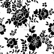 wallpaper flowers black and white - 115722
