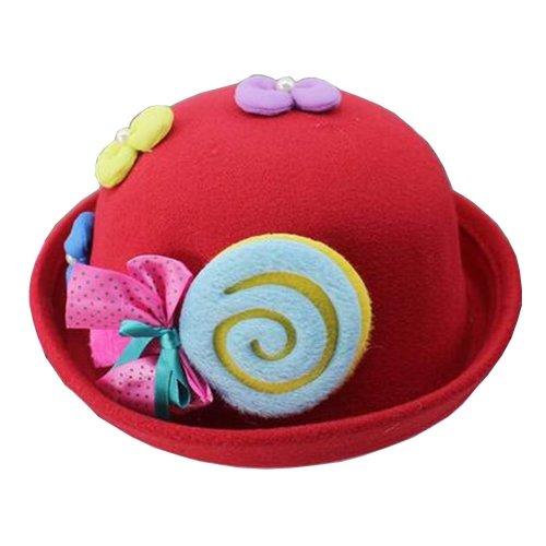 [Candy Red] Cute Baby Woolen Hat Children Bucket Hat Bowler Hat
