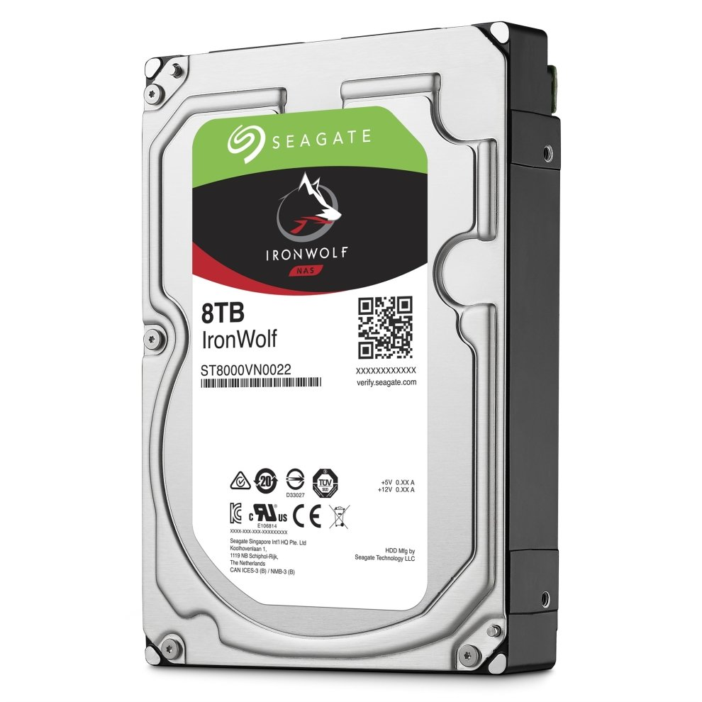 Seagate NAS HDD IronWolf 8TB 8000GB Serial ATA III internal hard drive
