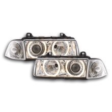 headlight Angel Eyes BMW serie 3 Coupe type E36 Year 92-98 chrome Xenon