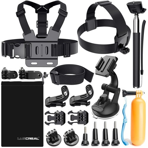 rechercher le meilleur prix raisonnable promotion spéciale Luscreal Accessories for GoPro, Action Camera Accessories Kit for Go Pro  Hero 7 Hero 2018 Hero 6 5 4 3 2 1 Hero Session 5 Black AKASO EK7000  Apeman...