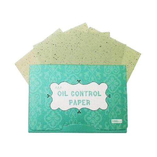 [Green] 3 Sets Unisex Facial Oil Blotting Papers Oil Control Papers