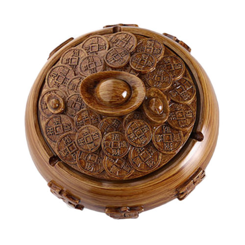 Creative Resin Bronze Coin Ashtray Retro Home Decoration Gift