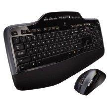 Logitech Wireless 2.4GHz Desktop Keyboard and Mouse - Black (MK710)