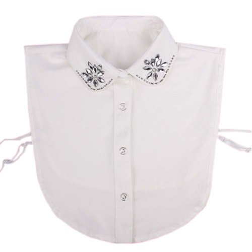 Elegant Women Fake Collar Detachable Dickey Blouse Half Shirts for Sweater, #04