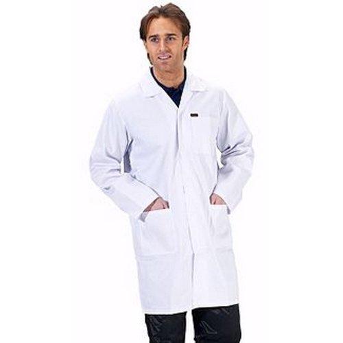 "Click PCWCW28 Polycotton Warehouse Coat White 28"""