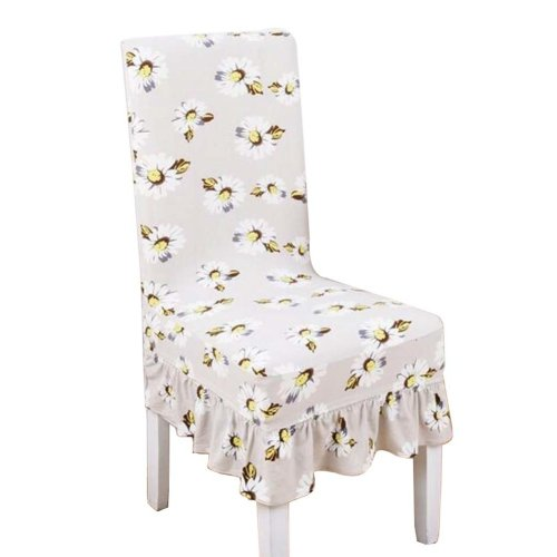 [Flowers-15] Stretch Dining Chair Slipcover Chair Cover Chair Protector