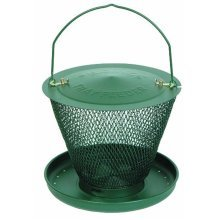 No/No Forest Green Single Tier Wild Bird Feeder with Tray