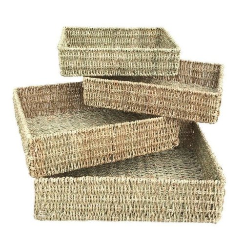 Set of 4 Rectangular Seagrass Tray