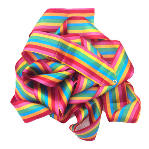 Gym Dance Ribbon Rhythmic Art Gymnastic Streamer Twirling Rod Stick Rainbow