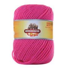Luxury 100% Soft Lambswool Yarn Thick Quick Yarn Premium Soft Yarn, Bauhinia Red